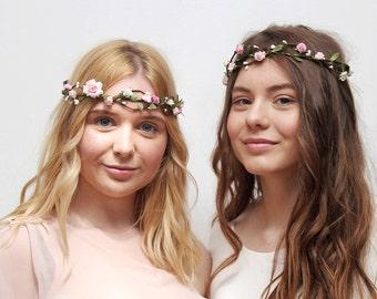 30% OFF Wedding Floral Crown \ Pastel Flower Tiara Bridal Flower Crown Festival Delicate Flower Head Crown Bridesmaid Crown READY