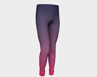 Ombre Kids Leggings, Ombre Leggings, Navy Kids Leggings, Pink Kids Leggings, Navy Kids Clothes, Modern Kids Clothes