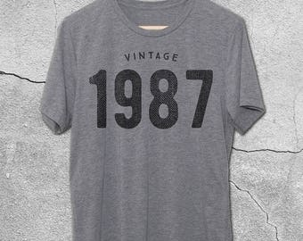 30th & 31st Birthday for Him or Her - VINTAGE 1987 or 1988 T-Shirt -30th Birthday Shirt- Gift Ideas - 31st birthday gifts for women and men