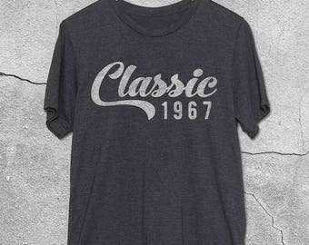 Classic 1967 Shirt - 50th Birthday Gift ideas for Women & Men - 50th Birthday Shirts - T-Shirt - 50th Birthday gifts for him / her