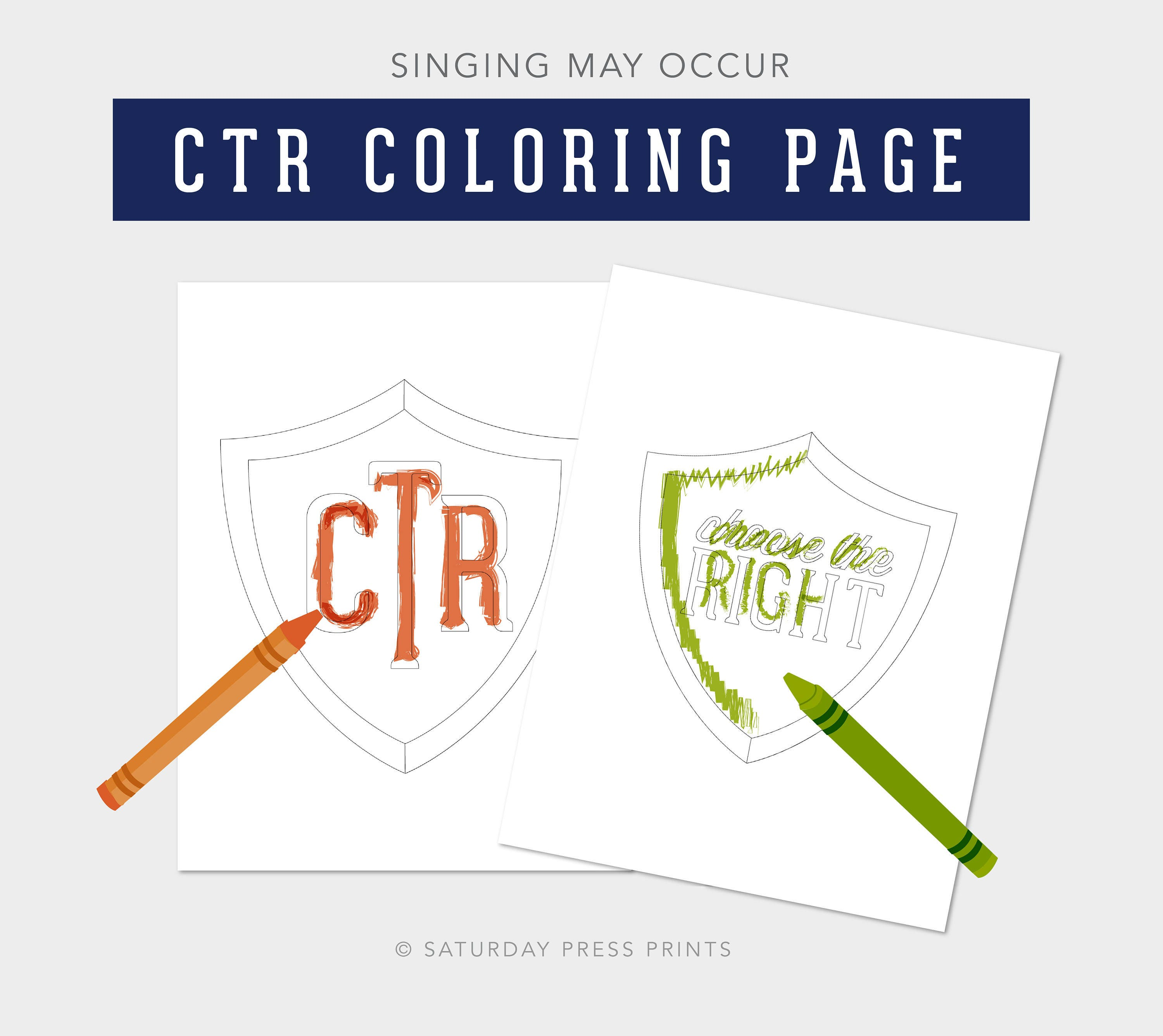 choose the right coloring page - choose the right coloring page ctr shield lesson helps