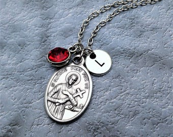 Saint Gerard Necklace / Patron Saint of Expectant Mothers and Motherhood / St Gerard Necklace / Catholic Jewelry / Catholic Saint Necklace