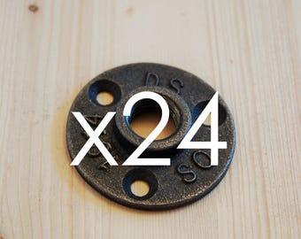 """Lot 24 1/2 """"flanges - flange floor cast 15/21 mm"""