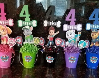 Set of 9 Paw Patrol Double-sided Centerpieces