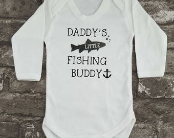 Daddy's Fishing Buddy, Baby Bodysuit, Fishing Baby Grow, Baby Shower Gift, New Dad, New Mom, New Daddy Gift, Baby Vest,  Christmas Present