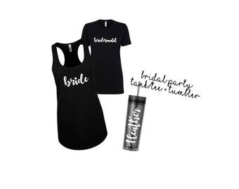 Tank and Tumbler Set | Bridesmaid Gift Set | Tumbler Set | Bridesmaid Tumbler Set | Bridesmaid Gifts | Custom Tumblers