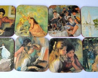 Victorian Ladies Melamine Coasters Beautiful set of 8
