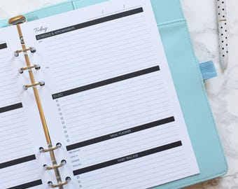 Printed Daily Planner Page - A5