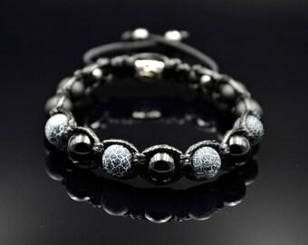 Men's Bracelet Agate Bracelet Beaded Bracelet Gemstone Bracelet Onyx Bracelet Shamballa Bracelet Macrame Bracelet Gift for Men Armband