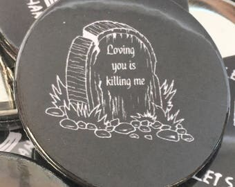 Creeper lyric art badge pack