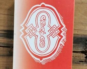 O Wood Block Stamp Alphabet Soup Wood Stamp