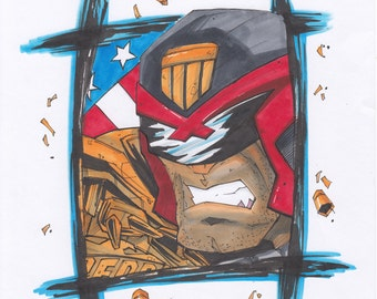 Original Art- Judge Dredd