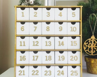 Christmas Advent Calendar Boxes Natural