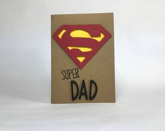Super Dad Superman Card - Super Hero Father's Day Card - Birthday - Just Because