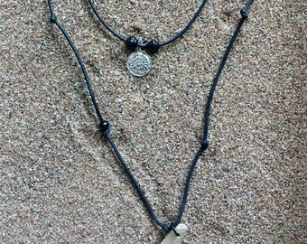 Double necklace cords and Driftwood