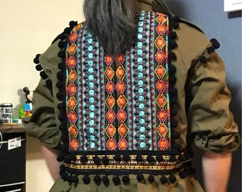 Boho jacket with embroidered