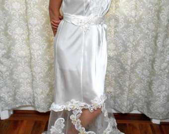 1940's style Wedding Slip Dress, Vintage inspired wedding gown, Glam bridal gown, eco wedding dress