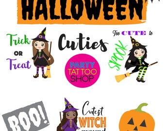 Custom Halloween Temporary Tattoos, kid tattoos, halloween tattoo, custom fun