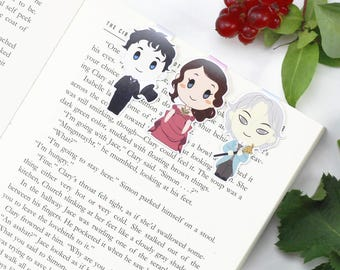 Will, Tessa, Jem - Magnetic bookmarks - Infernal Devices  || shadowhunter, book lover gifts, clare, clockwork angel, parabatai, bookmark