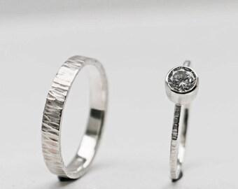 SET silver & cubic zirconia