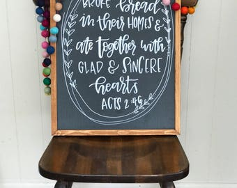 Custom chalkboard, handmade sign, hand-lettered, custom sign, home decor, wood