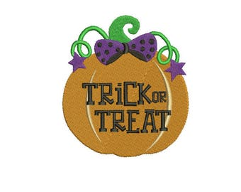 Halloween Pumpkin Embroidery Design Machine Instant Download Q8122