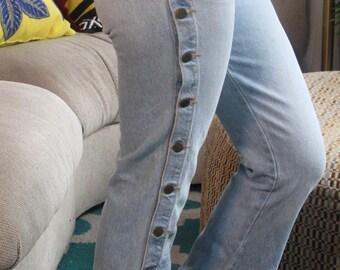 Light-wash Denim Flare Jeans