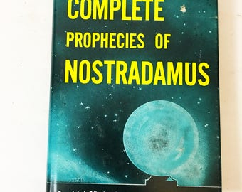 The Complete Prophecies of Nostradamus. Vintage book circa 1969 by Henry Roberts. Occult book gift. Prognosticator disaster prediction.