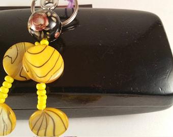 Two Strand Yellow Sunshine Handbag Charn/Key Chain
