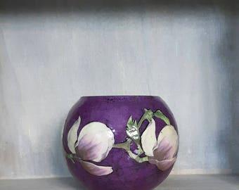 Decorative Vases, Bubble Vases, Unique Vases, Purple Vases, Flower Motif  Vases,
