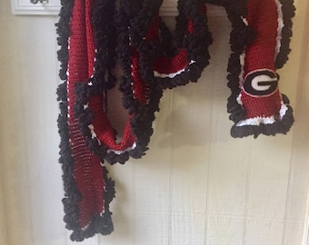Scarf | Handmade/Crochet, Georgia University GA Bulldogs