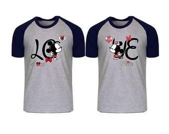 Mickey and minnie couple shirts  Etsy