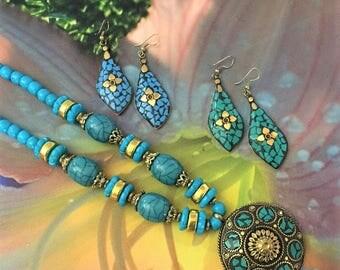 Popular Mosaic Art Necklace, Mosaic Jewelry, Mosaic Pendant Necklace, Mosaic Statement Necklace, Gifts for Mom, Mom Necklace, Mom Jewelry