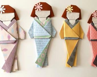 Geisha Magnetic (Origami)