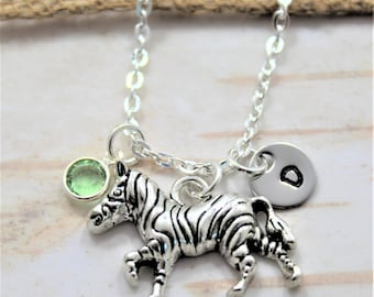 Zebra Necklace - Zebra Birthday Gift - Personalized Zebra Jewelry - Zebra Necklace for Kids - Safari Necklace - Zebra Lover Gift