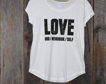 Love God Neighbor Self (Women's T-shirt)