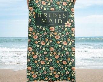 Bridesmaid Beach Towel | Wedding Beach Towel | Wedding Party Beach Towel | Personalized Bridal Beach Towel | Bridesmaid Towel Wrap