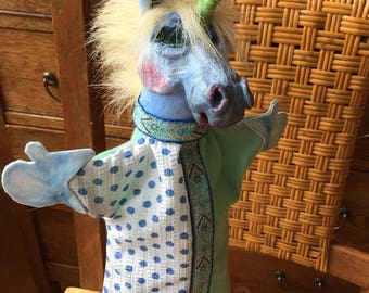 Magical Unicorn: one of a kind hand puppet