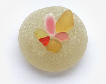 Yellow, Red and Pink Sea Glass Mix, Genuine Irish Sea Glass, Rare Sea Glass Pieces