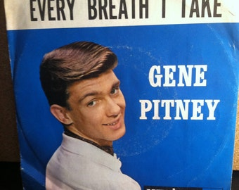 Gene Pitney Mr Moon Mr Cupid And I b/w Every Breath I Take Vinyl Pop Picture Sleeve 45 rpm Record