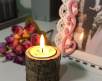 WoodenCandle Holder Table Desk Nice Wedding Decoration Props Decoration Furniture Romantic Candlelight Dinner1 PC    Diameter: 5.5cm
