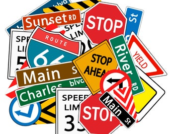 Cool Style traffic signs