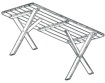 Picnic Table 6 feet long #164 Woodworking / Craft Pattern. FREE SHIPPING REFUND!