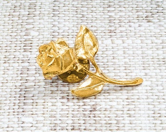 Gift for mother in law gift Flower Brooch Vintage brooch Bouquet brooch Gold brooch Flower pin Flower enamel pin Enamel brooch Rose brooch