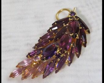 amethyst brooch