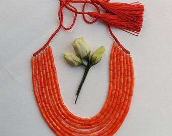 Coral Necklace Antique Coral Red Coral Necklace Natural Coral Necklace Ethnic Ukrainian Coral Jewelry Coral Bead Necklace Collares Etnicos 4