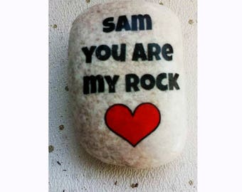 Personalised birthday  rocks/pebbles,you are my rock, keepsake gift, personalised pebble gift, gift for girflfriend/boyfriend, husband/wife