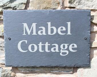 Outdoor Slate House Plaque, Slate House Name Plaque, Slate House Number Plaque, Natural Edge Slate House plaque, House Name/Number Sign,