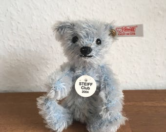 All Ids Vintage Steiff Club 2004 Blue Teddy Bear 10cm mini