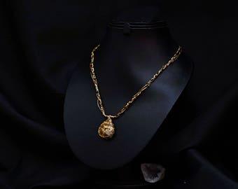 Necklace agate adjustable Kiabate